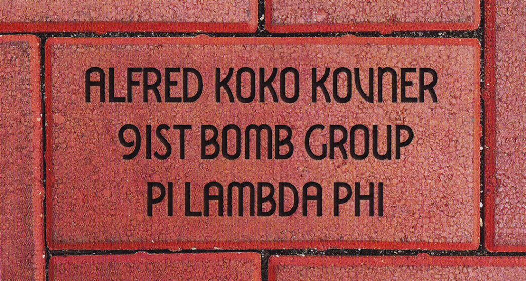 Commemorative Brick Alfred Koko Kovner National WWII Museum