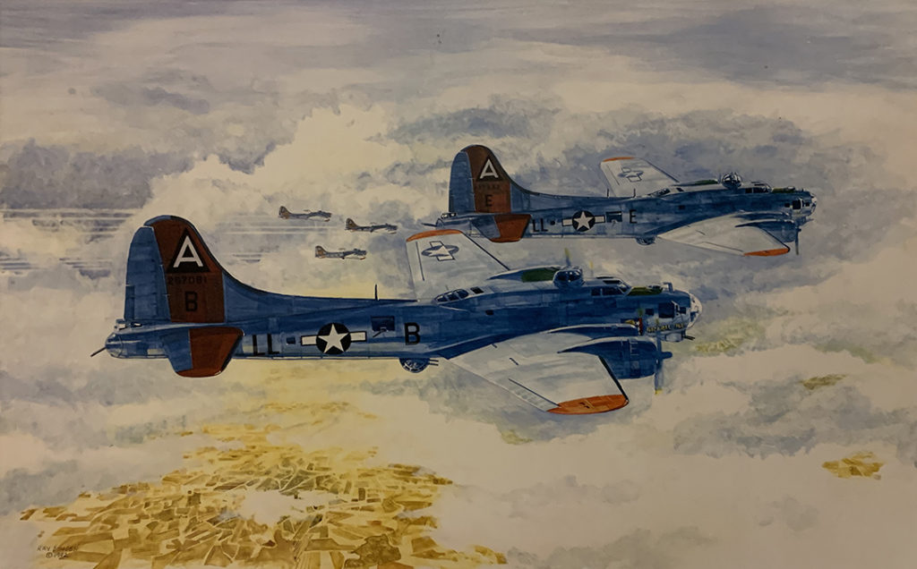 Mission 183: B17s flying in formation