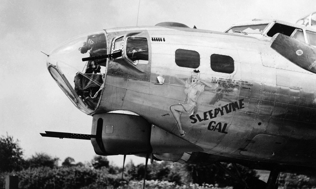 B-17 Sleepytime Gal nose art