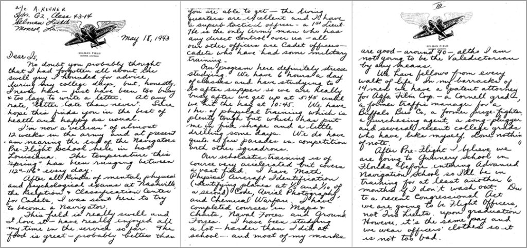 Letter to Is Wachs 1943