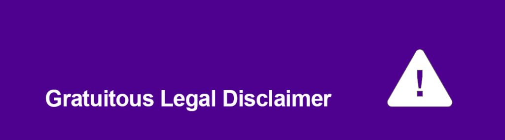 Legal Disclaimer