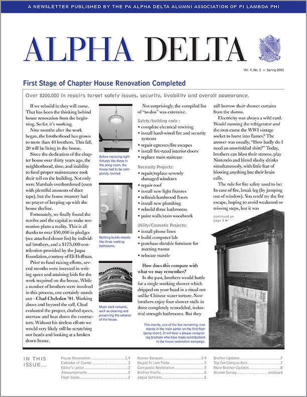 Alpha Delta Newsletter